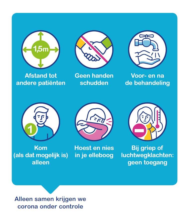infographic veilig naar de logopedist (corona)